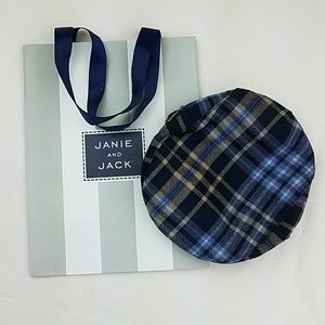 Janie and Jack Plaid Newsboy Wool Hat